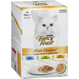 Photo of Purina Fancy Feast Petit Cuisine Pet Food With Grilled Tuna, Salmon, Cod 6 Pack 50g