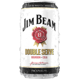 Photo of Jim Beam Double Serve & Cola Can