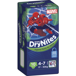Photo of Huggies Drynites Pyjama Pants, Boys, Size: 4 - 7 Years (17 - 30kg), 10 Pants