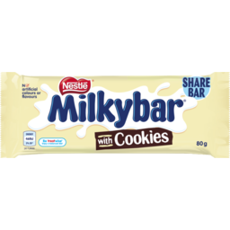 Photo of Nestle Milkybar Chocolate Bar Milk & Cookies Kingsize 80g 80g