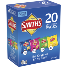 Photo of Smiths Crinkle Variety 20pk 380g