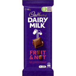 Photo of Cadbury Dairy Milk Fruit & Nut Milk Chocolate Block 180g