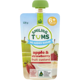 Photo of WW Smiling Tums 6+mths Baby Food Apple & Strawberry Fruit Custard 120g
