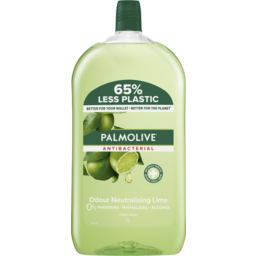 Photo of Palmolive Antibacterial Liquid Hand Wash Soap Lime Odour Neutralising Refill & Save 0% Parabens Recyclable 1l
