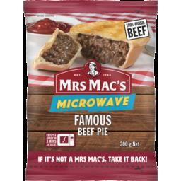 Photo of Mrs Macs Microwave Beef Pie 200g