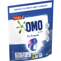Photo of Omo Laundry Capsules 3in1 Active 28 Pack 728 G