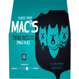 Photo of Macs 3 Wolves 330ml Bottles 12 Pack