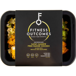 Photo of Fitness Outcomes Chicken Sticky Rice Broccilli 350g