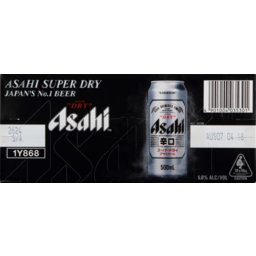 Photo of Asahi Super Dry 5% 4 X 6x500ml