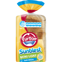 Photo of Tip Top Sunblest Soft White Mini Loaf 400gm