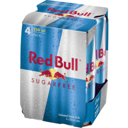 Photo of Red Bull Energy Drink Sugarfree 4x250ml Cans