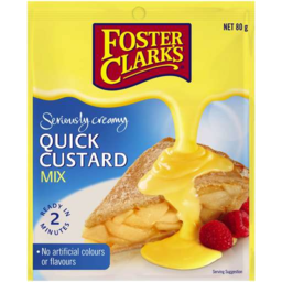 Photo of Fosters Clark Quick Custard Mix 80g