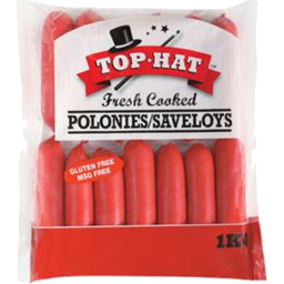 Photo of Top Hat Polonies/Saveloys 1kg
