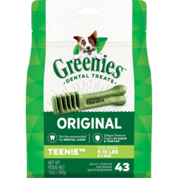 Photo of Greenies Dental Treats Original Teenie Dog Treats 43 Pack 340g