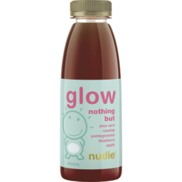 Photo of Nudie Glow Nothing But Aloe Vera Rosehip Pomegranate Blueberry Apple 400ml