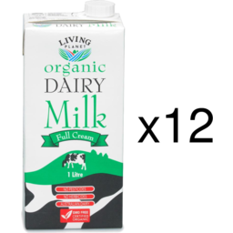 Photo of Living Planet Cows Milk - Long Life Full Fat - Box Of 12