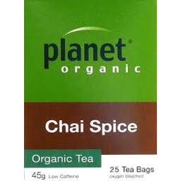 Photo of Planet Organic - Chai Spice - 25 Tea Bags - 45gm