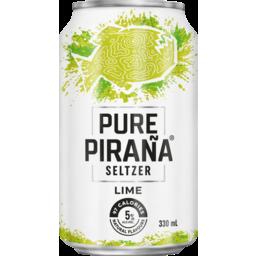 Photo of Pure Pirana Seltzer Lime 330ml