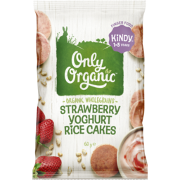 Photo of Only Organic Strawberry Yoghurt Mini Rice Cakes 60g