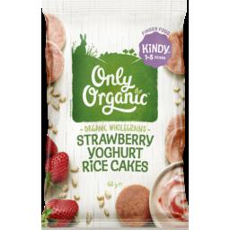 Photo of Only Organic Strawberry Yoghurt Rice Cakes 60g