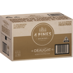 Photo of 4 Pines Draught 24 Pack 330ml Carton