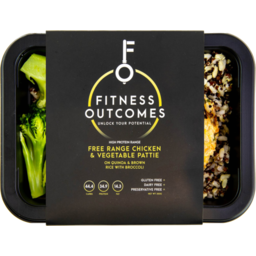 Photo of Fitness Outcomes Free Range Chicken & Vegetable Pattie 350gm