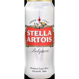 Photo of Stella Artois Belgium Beer Can 5% 500ml