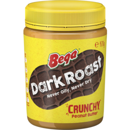 Photo of Bega Peanut Butter Dark Roast Crunchy 470g