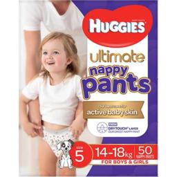 Photo of Huggies Ultimate Nappy Pant Size 5 Jumbo Walker 50 Pack