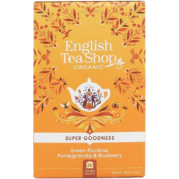 Photo of English Tea Shop Green Rooibos Pomegranate Blueberry 35g