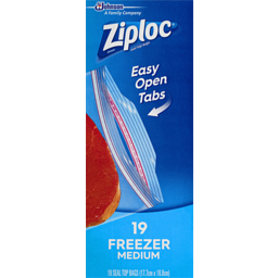 Photo of Ziploc Freezer Bag Med 19s