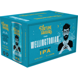 Photo of Fortune Favours The Wellingtonian New Zealand IPA 330ml 6 Pack