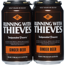 Photo of Running With Thieves Ginger Beer Can