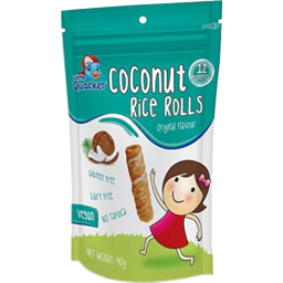 Photo of Little Quacker Original Flavour Coconut Rice Rolls 12 Months+ 40g