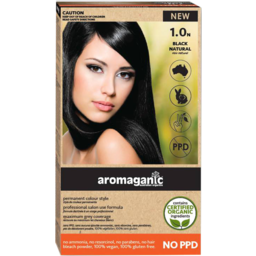 Photo of Aromaganic Hair Colour - Black Natural 1.0n
