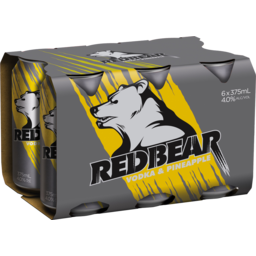 Photo of Red Bear Vodka & Pineapple 375ml 6 Pack