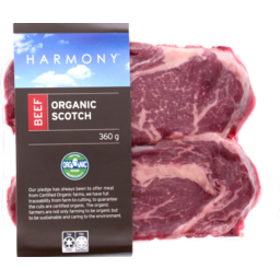 Photo of Harmony Organic Beef Scotch 360g