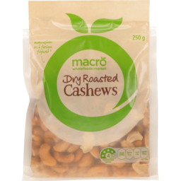 Photo of Macro Cashews Dry Roasted 250g