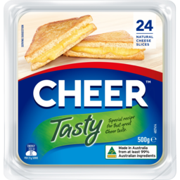 Photo of Cheer Tasty Cheese Slices 24 Pack 500g
