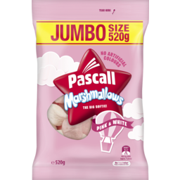 Photo of Pascall Marshmallows Pink White Lollies Large Bag 520g
