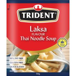 Photo of Trident Laksa Flavour Thai Noodle Soup (Gluten Free) 50g 50g