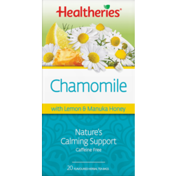 Photo of Healtheries Tea Bags Herbal Chamomile Lemon & Honey 20 Pack