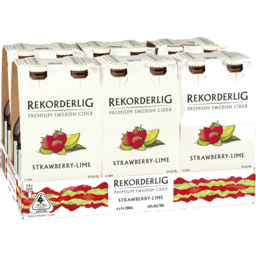Photo of Rekorderlig Strawberry-Lime Cider Bottles