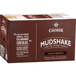 Photo of Vodka Cruiser Mudshake Chocolate 270ml 24 Pack