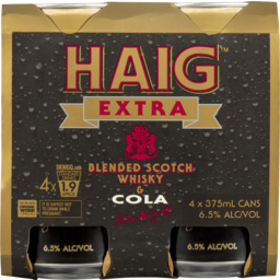 Photo of Haig Extra Blended Scotch Whisky & Cola