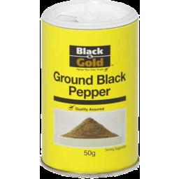 Photo of Black & Gold Ground Black Pepper 50gm