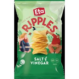 Photo of Eta Ripples Potato Chips Salt & Vinegar 150g