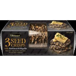 Photo of Ob Finest Crackers 3 Seed Crisps 110gm
