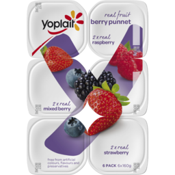 Photo of Yoplait Real Fruit Berry Punnet 6x160g