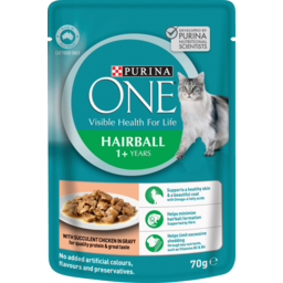 Photo of Purina One Hairball With Chicken In Gravy 70g